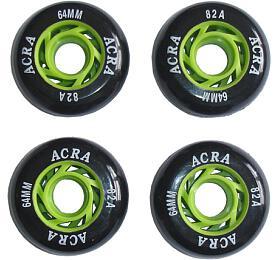 ACRA SKATE Náhradní kolečka dokolečkových bruslí 64x 24mm -CS05
