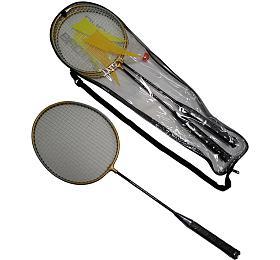 ACRA Badmintonová sada -2 rakety+ košíček +pouzdro