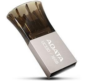 ADATA UC330 16GB OTG MicroUSB/USB 2.0 -hnědý