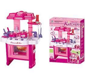 G21 Dětská kuchyňka DELICACY s příslušenstvím, růžová