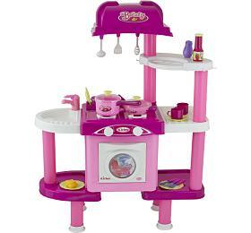 G21 Dětská kuchyňka LENA s příslušenstvím růžová II.