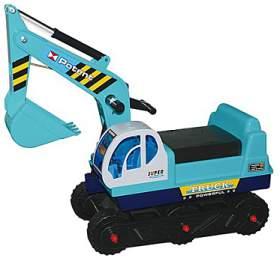G21 Dětský bagr pásový, modrý
