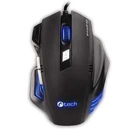 C-Tech Akantha Ultimate GM-11 / laserová / 7 tlačítek / 3200dpi - černá