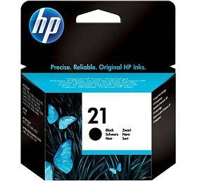 Inkoustová náplň HP No. 21, 150 stran originální - černá