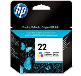 Inkoustová náplň HP No. 22, 22, 5ml, 138 stran originální - červená/modrá/žlutá
