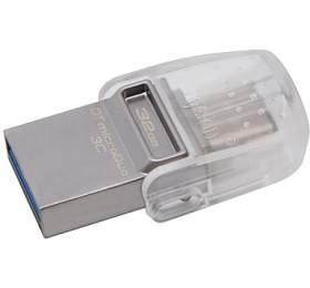 KINGSTON DT MicroDuo 32GB / 2v1 - USB 3.0 a USB Typ-C / OTG / šedá