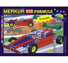 Stavebnice MERKUR 010 Formule 10modelů 223ks vkrabici 26x18x5cm