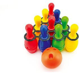 Bowling kuželky plast 21cm 10ks vsíťce