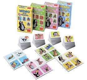 Minipexeso Krtek 6,5x9cm společenská hra vpapírové krabičce 40ks vboxu