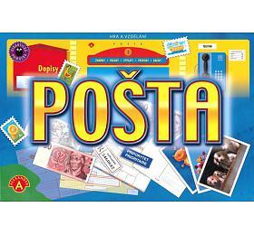 Pošta vzdělávací společenská hra vkrabici 28,5x19x3,5cm