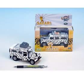 Auto Land Rover safari kov 14cm nabaterie 3xLR41 nazpětné natažení sesvětlem vkrabičce