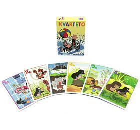 Kvarteto Krtek 1společenská hra -karty vpapírové krabičce 6x9cm