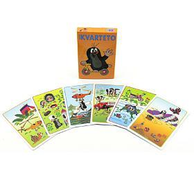 Kvarteto Krtek 2společenská hra -karty vpapírové krabičce 6x9cm