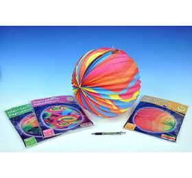 Lampion průměr 30cm 6druhů vsáčku karneval