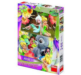 Puzzle Zvonilka/Fairies 32,3x22cm 2x66 dílků v krabici 23x34x4cm