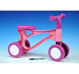 Odrážedlo Rolocykl růžový plast výška sedadla 26cm od18 měsíců