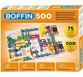 Stavebnice Boffin 500 elektronická 500 projektů nabaterie 75ks vkrabici 50x39x5cm