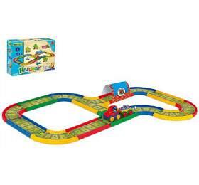 Dráha Kid Cars Železnice 3,1m v krabici 39x29x14cm 12m+ Wader
