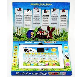 Krtkův naučný tablet pro nejmenší Krtek 24,1x18,7x1,8cm na baterie v krabici
