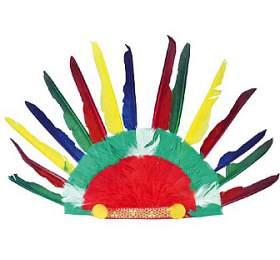 Indiánská čelenka 60x35cm vsáčku karneval