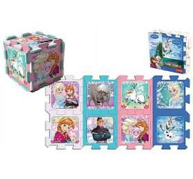Pěnové puzzle Ledové království/Frozen 32x32x1cm 8ks vsáčku