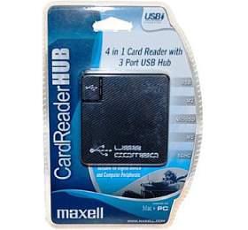 Čtečka paměťových karet 4v1 s USB HUB Maxell