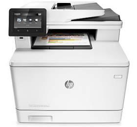 Tiskárna multifunkční HP LaserJet Pro MFP M477fdw A4, 27str./min, 27str./min, 600 x 600, 256 MB, automatický duplex, WF, USB - bílá