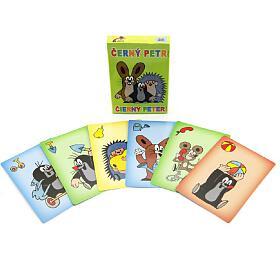 Černý Petr Krtek společenská hra -karty vpapírové krabičce 6x9cm