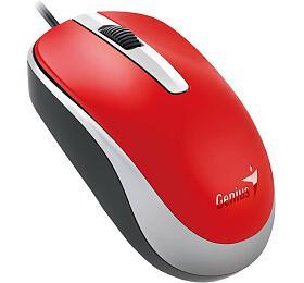 Genius DX-120 /optická /3 tlačítka /1200dpi -červená