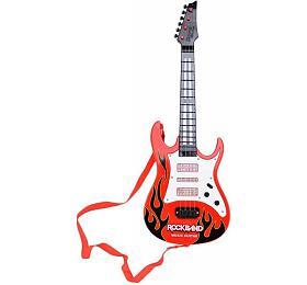 Kytara plast 54cm nabaterie sezvukem sesvětlem nakartě