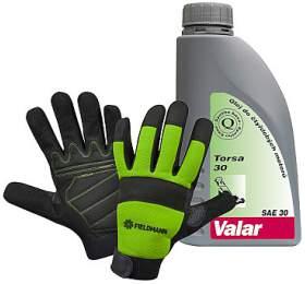 SET Pracovní rukavice Fieldmann FZO 6011 + Olej VALAR Torsa 30 0,6 L