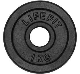 Lifefit kovový 1,0kg pro 30mm tyč - černá