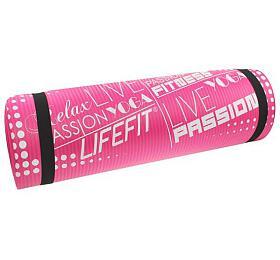 Lifefit Yoga Mat Exkluziv Plus 180x60x1,5cm - růžová