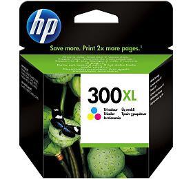 HP No. 300XL, 11ml, 440 stran originální -červená/modrá/žlutá
