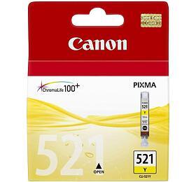 Canon CLI-521Y, 530 stran originální - žlutá