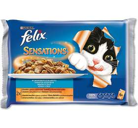 Felix Sensations Sauce Surprise s krůtou ve slaninové omáčce a jehněčí se zvěřinou