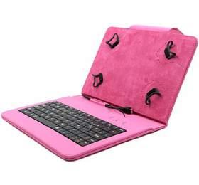 """C-TECH PROTECT pouzdro univerzální s klávesnicí pro 7""""-7,85"""" tablety, FlexGrip, NUTKC-01, růžové"""