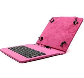 """C-TECH PROTECT pouzdro univerzální s klávesnicí pro 8"""" tablety, FlexGrip, NUTKC-02, růžové"""