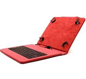 """C-TECH PROTECT pouzdro univerzální s klávesnicí pro 8"""" tablety, FlexGrip, NUTKC-02, červené"""