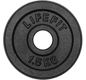 Lifefit kovový 1,5kg pro 30mm tyč - černá