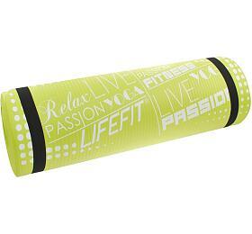 Lifefit Yoga Mat Exkluziv Plus 180x60x1,5cm - zelená