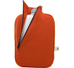 Termofor Hugo Frosch Eco Classic Comfort sesoftshellovým obalem nazip –oranžový