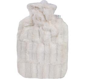 Termofor Hugo Frosch Classic sobalem zumělé kožešiny –bílý spodšívkou