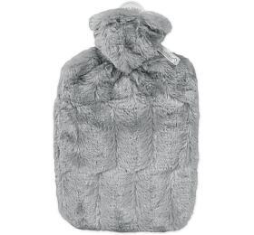 Termofor Hugo Frosch Classic sobalem zumělé kožešiny –šedý spodšívkou