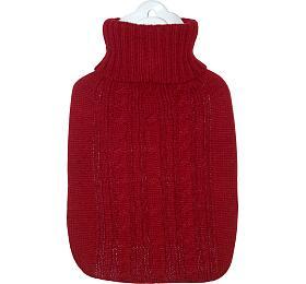 Termofor Hugo Frosch Classic sčerveným pleteným obalem
