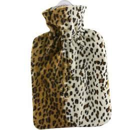 Termofor Hugo Frosch Classic sfleecovým leopardím obalem –uvnitř podšívka