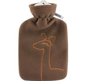 Dětský termofor Hugo Frosch Classic sdvojitým měkkým fleecovým obalem –hnědý