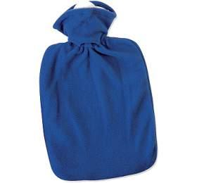 Termofor Hugo Frosch Classic shladkým fleecovým obalem –modrý