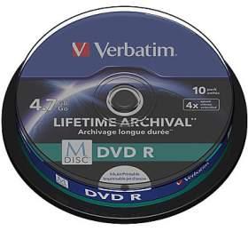 Verbatim DVD-R M-Disc 4,7GB, 4x, printable, 10cake