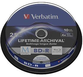 Verbatim BD-R M-Disc 25GB, 4x, printable, 10-cake